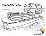 Coloring Boat Pontoon Pages Boats Plans Ship Police Water Sheets Clipart Clip Ski Colouring Fishing Printable Slide Drawing Boys Rugged sketch template
