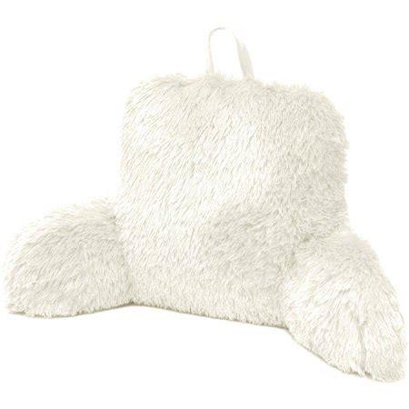 back rest pillow formula longhair faux fur backrest pillow walmart