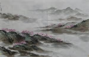 Chinese Brush Painting Landscape