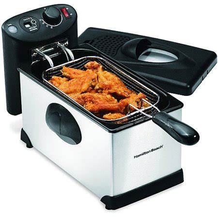 fryer deep hamilton beach walmart cup fish electric frying chicken