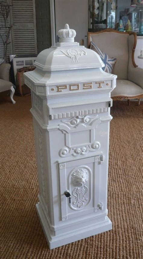 large white post box mail box white pillar box wedding