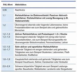 Kalorienzufuhr Berechnen : ern hrung und energiebedarf bei querschnittl hmung der ~ Themetempest.com Abrechnung