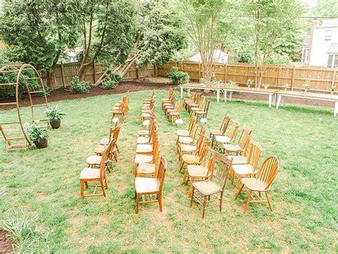 beautiful backyard wedding lauren drew