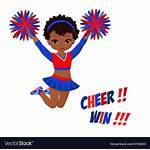 Pom Poms Cheerleader Uniform Vector Cartoon Clip