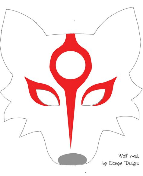 wolf mask template wolf mask pattern with okami markings by eitanya on deviantart