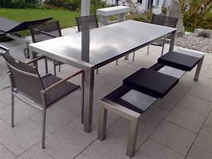 Gartentisch Granit Edelstahl Granit Gartentische Aus Naturstein Und