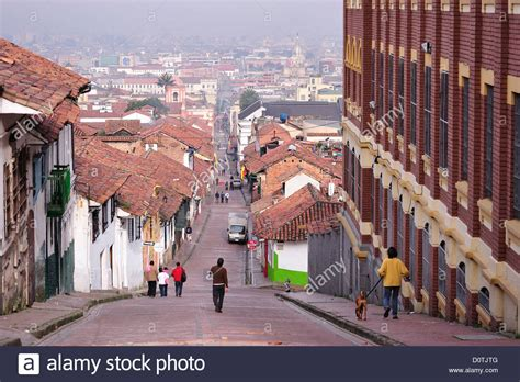 view town tile roofs historical center bogota