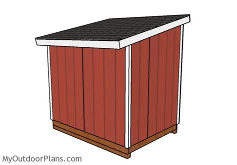 6x8 lean to shed roof plans myoutdoorplans free