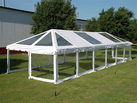 Pvc Combi Party Tent 60' X 20' Clear  Heavy Duty Wedding