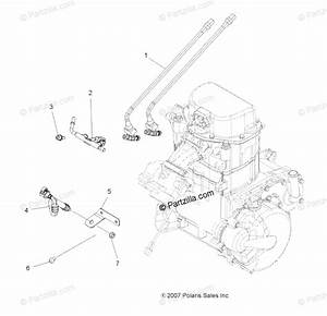 Polaris Atv 2009 Oem Parts Diagram For Engine  Fuel