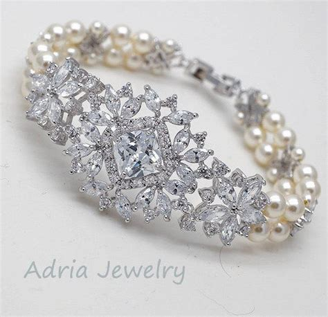 crystal bridal bracelet crystal wedding bracelet vintage