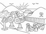 Coloring Road Construction Lego Signs Trucks Drawing Winding Printable Working Map Worker Crane Getcolorings Together Getdrawings Workers Vehicles Vehicle Colorings sketch template