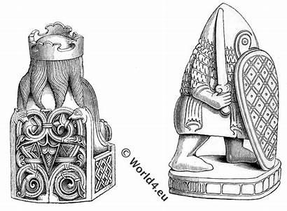 Clotilde Queen Clovis King Franks Chessmen 12th