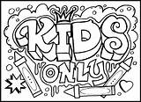 Graffiti Coloring Pages Print sketch template