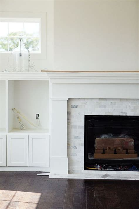 fireplace mantel  marble tile google search