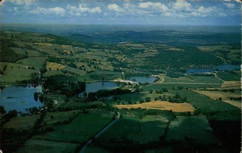 aerial view  hedges lake  deadmans pond cambridge ny