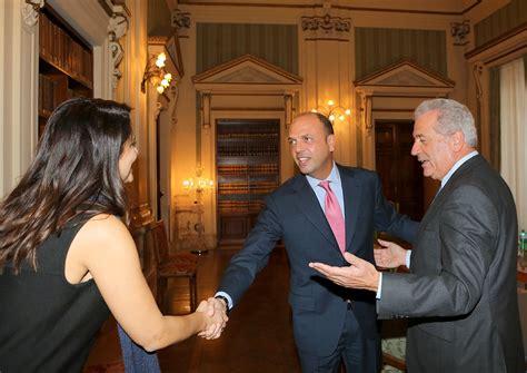 Ministero Dell Interno Ufficio Cittadinanza Alfano Incontra Il Commissario Europeo Dimitris
