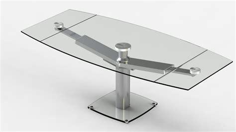 table de cuisine en verre étourdissant table de cuisine en verre avec rallonge avec