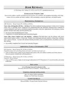 resume objective for nursing aide exle aide resume free nursing sle