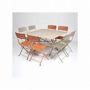 Fermob Salon De Jardin : salon de jardin fermob table l128 l128 cm 8 chaises gamm vert ~ Teatrodelosmanantiales.com Idées de Décoration