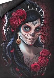 Tete De Mort Mexicaine Femme : parure de lit spiral el muerto coussins rock a gogo ~ Melissatoandfro.com Idées de Décoration