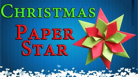 easy paper christmas decorations origami star  year