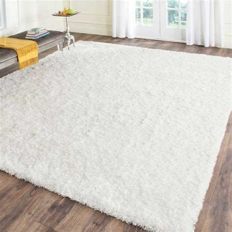 white shag rug in bedroom decorating