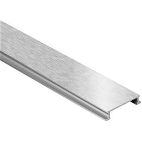 Schluter Tile Trim Home Depot by Schluter Designline Brushed Nickel Anodized Aluminum 1 4