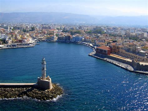 photo gallery wall chania lighthouse travel guide for island crete greece