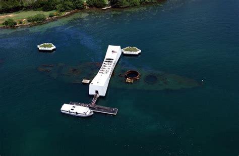 sunken pearl harbor battleship uss arizona scanned