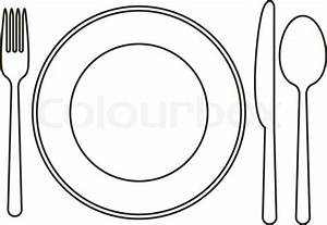 Fork clipart plate - Pencil and in color fork clipart plate