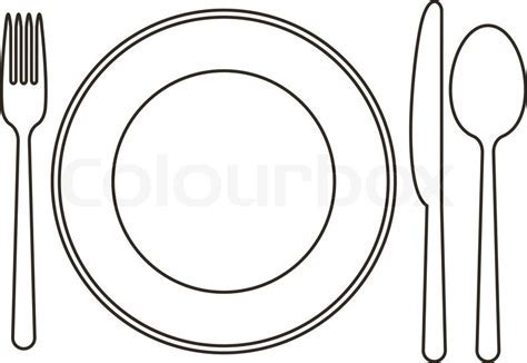 Fork clipart plate   Pencil and in color fork clipart plate