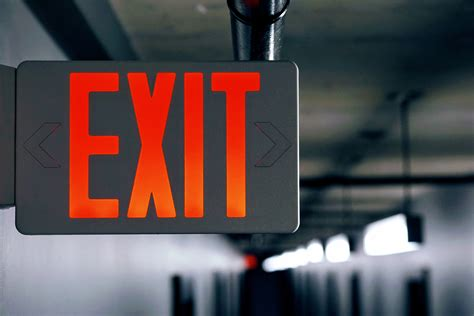 Exit Sign Free Stock Photo - ISO Republic