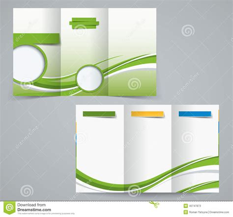 fold brochure template corporate flyer  cover
