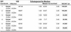 Abrechnung Gerüst : ger st abrechnung vorgaben der vob der ger stbauer ~ Themetempest.com Abrechnung