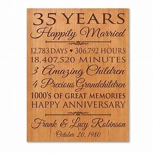 35th wedding anniversary gift ideas for parents wedding With gift ideas for wedding anniversary