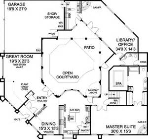 Images Mediterranean House Plans With Courtyard In Middle by Stunning Open Courtyard In The Middle Of The Home Plan