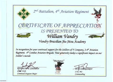 cer van layout certificate of appreciation us army image collections