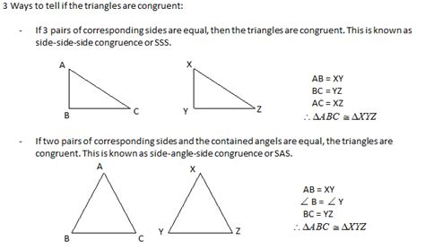 There are five ways to find if two triangles are congruent: Unit 5- Angles and Trig - Mr. Brown's Website