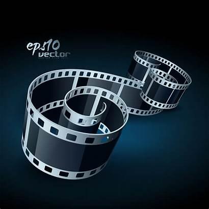 Reel Film Vector Camera Strip Vectors Graphics