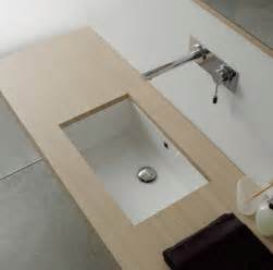 rectangular white ceramic undermount sink contemporary
