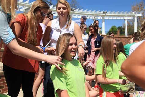 students donate  locks  cancer patients high