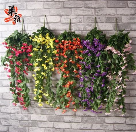 Living Room Artificial Flowers by New Wall Lilac Vine With Silk 7 Colors 1500 Heads