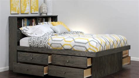 Captains Bed With Bookcase Headboard by Captains Bed With Bookcase Headboard