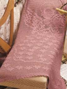 Filet Hearts Crochet Afghan Pattern