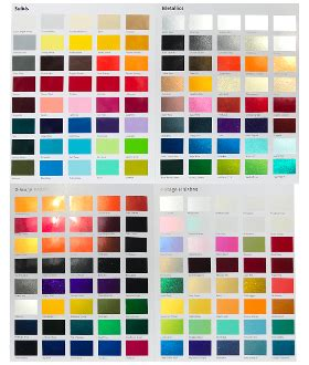custom car paint colors selector urechem color chart buy custom paint for your automobile or