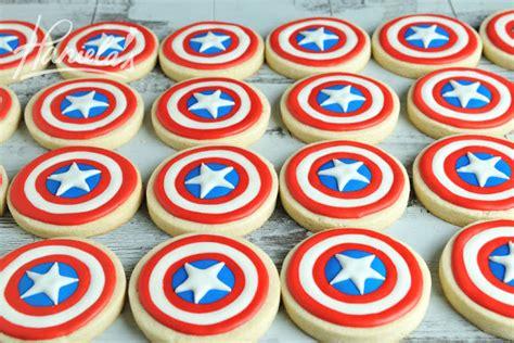 hanielas captain america shield cookies