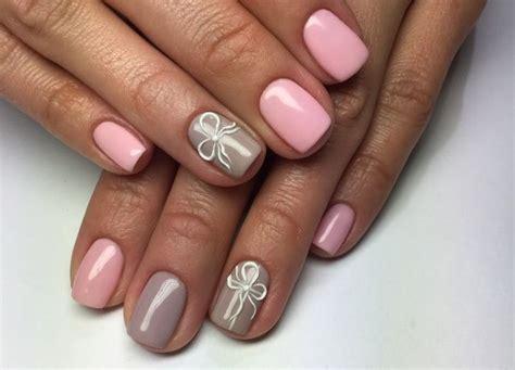 Маникюр серый с розовым фото варианты идеи Модная мама