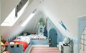 Kinderbett Unter Dachschräge : 28 einrichtungsideen f r kinderzimmer mit dachschr ge ~ Michelbontemps.com Haus und Dekorationen
