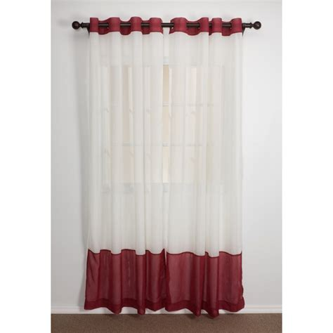 home studio two tone banded curtains 84 quot crushed voile